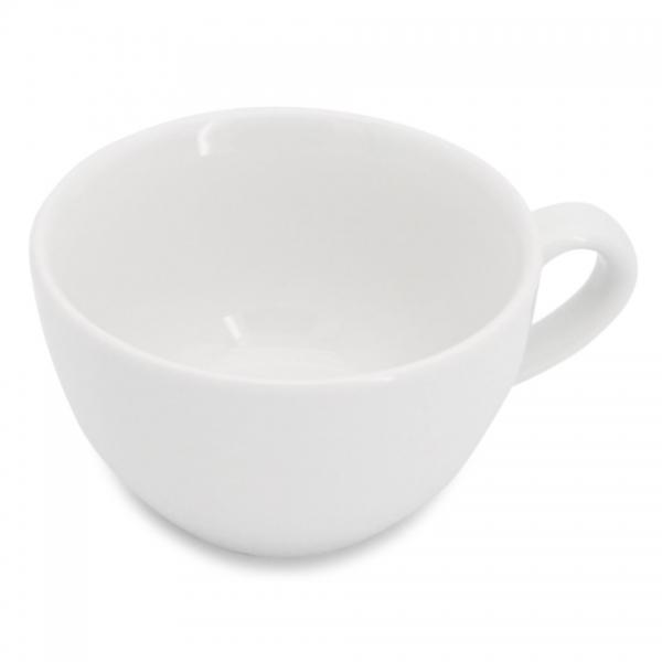 Milchkaffeetasse mit glattem Henkel 0,25l Classic Weiß