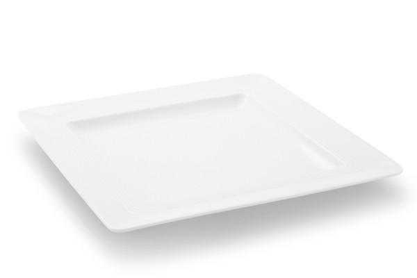 Eckiger Frühstücksteller Jeverland Weiß Friesland Porzellalan