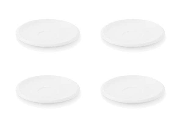 Viererset Untertassen Ecco Weiß Friesland Porzellan