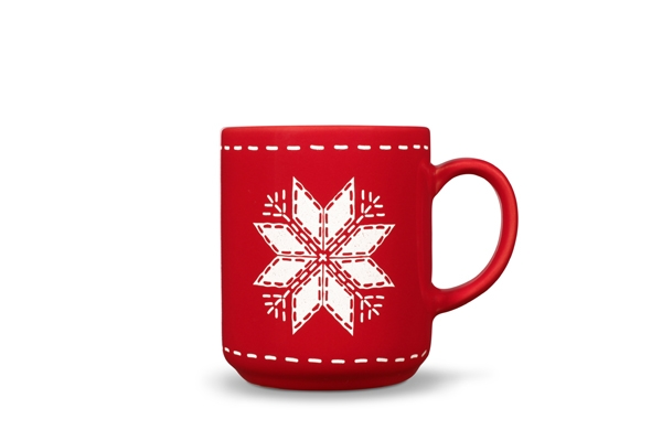 4er-Set Becher Stern Happymix Weihnachten Rot
