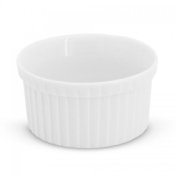 Crème Brûlée Form rund, 9cm Feuerfest Weiß