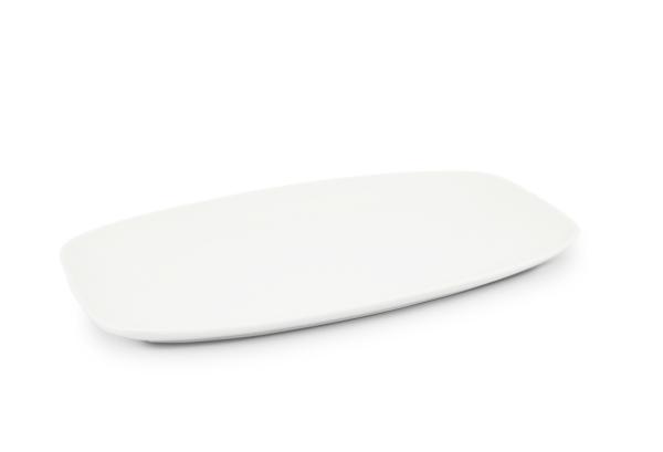 Platte 33 x 20cm Horizont Weiß