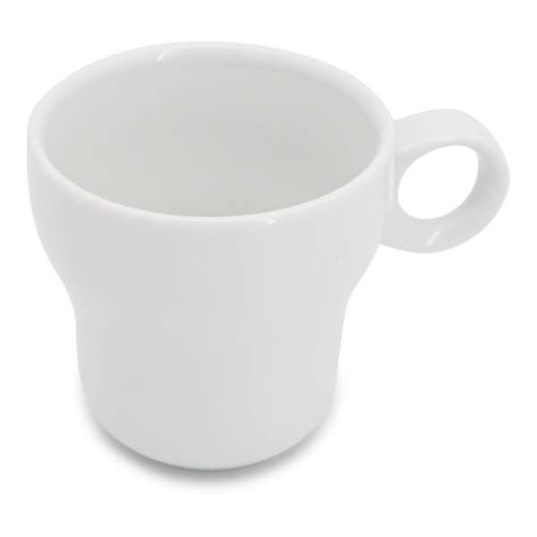 Caffè latte Tasse, 0,28l Modern Classic Weiß