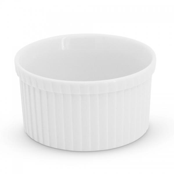 Crème Brûlée Form rund, 10cm Feuerfest Weiß