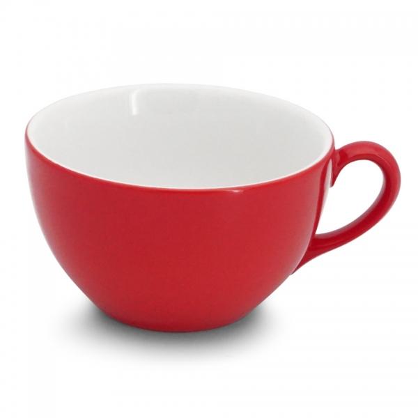 Café au lait Tasse, 0,35l Classic Feuerrot Walküre Porzellan
