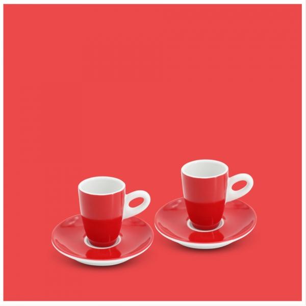 Espresso-Set 4tlg. Alta Feuerrot