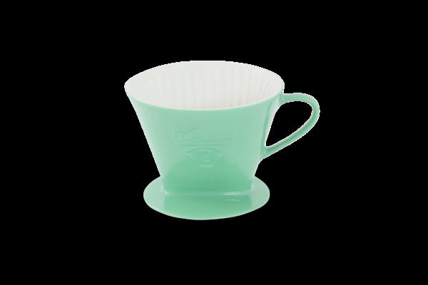 Porzellan Kaffeefilter Gr. 2 Jadegrün