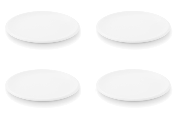 4er-Set Frühstücksteller Ecco Weiß
