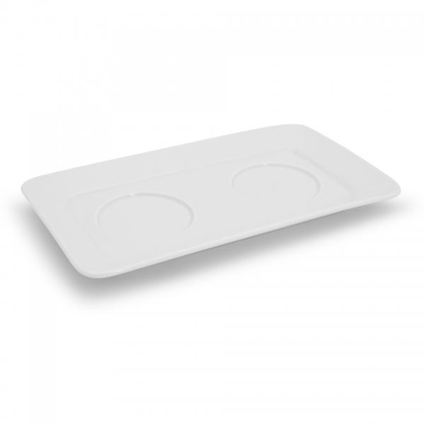 Tablett für Zuckerdose und Milchkännchen NYNY Weiß