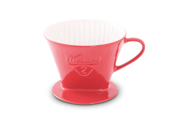 Porzellan Kaffeefilter Gr. 2 Rot
