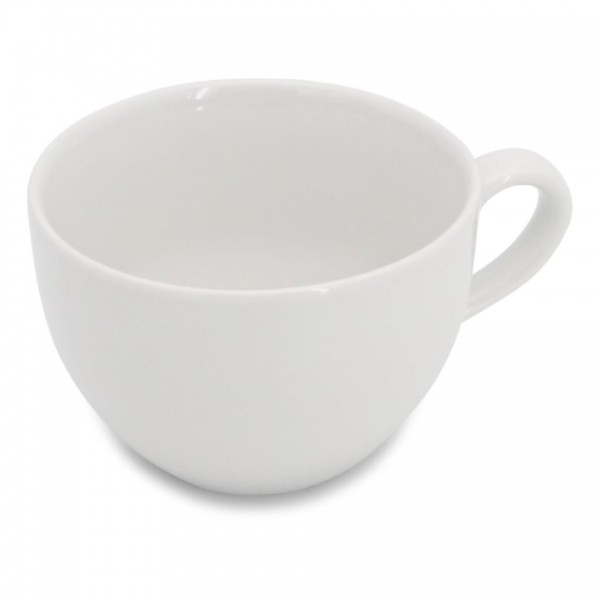 Café au lait Tasse mit glattem Henkel 0,5l Classic Weiß