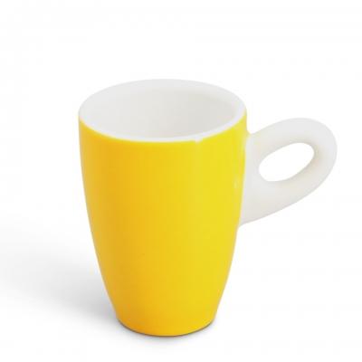 Espressotasse, 0,06l Alta Gelb Henkel Weiß Walküre Porzellan