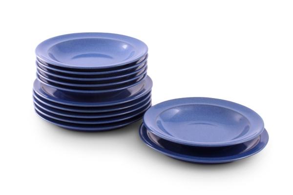 Ammerland Blue Steingut Service Teller-set Friesland Porzellan