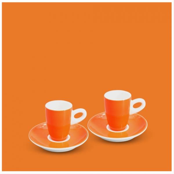 Espresso-Set 4tlg. Alta Leuchtorange