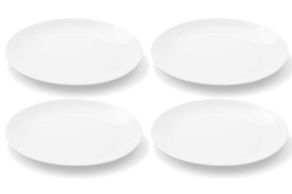 Viererset Frühstücksteller Chai Weiß von Friesland Porzellan