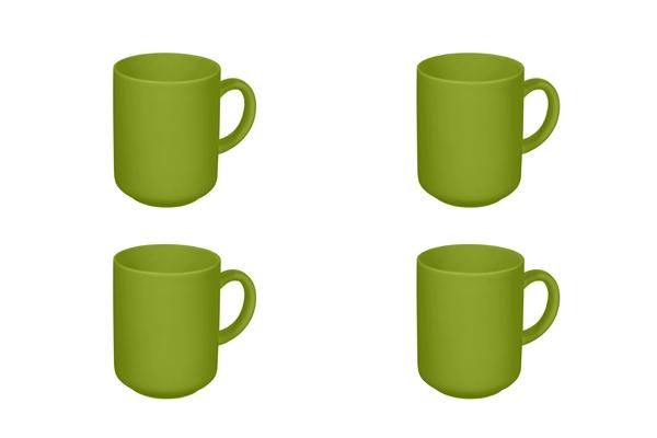 Viererset Happymix Becher Limette Grün