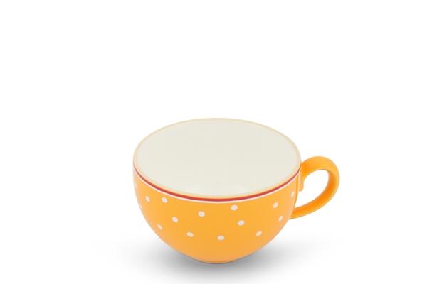 Kaffeetasse Landpartie Punkte Safrangelb Trendmix Friesland