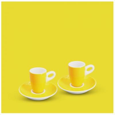 Espresso-Set 4tlg. Alta Gelb Walküre Porzellan