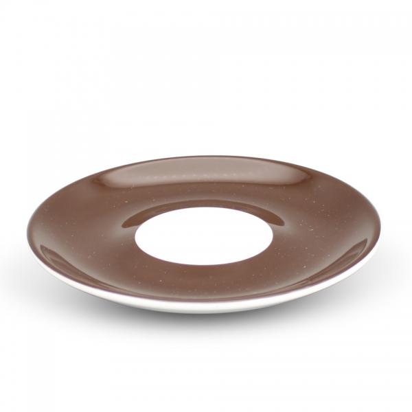 Milchkaffee Untertasse, 16cm Alta Dunkelbraun Spiegel Weiß