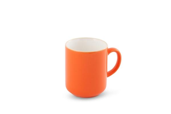 Großer Becher Happymix Orange/Weiß Friesland Porzellan