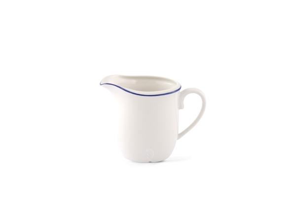 Milchkännchen Bel Air Marine Porzellan mit blauem Rand