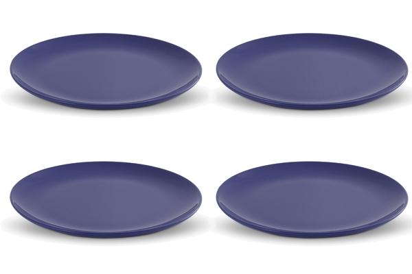 Viererset Frühstücksteller Happymix Blau von Friesland