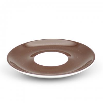 Milchkaffee Untertasse, 16cm Alta Dunkelbraun Spiegel Weiß Walküre Porzellan