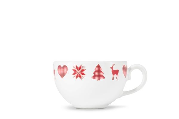 4er-Set Kaffee-Obertasse Happymix Weihnachten Weiß