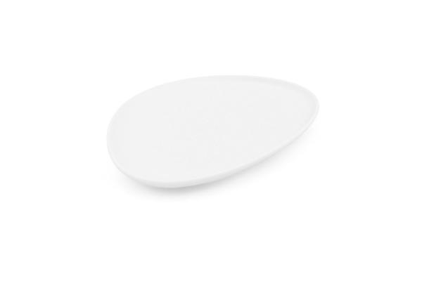 Teller dreickig 23 x 17cm NYNY Weiß