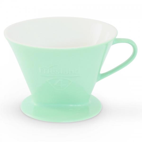 Kaffeefilter Porzellan Friesland Größe 4 Pastellgrün