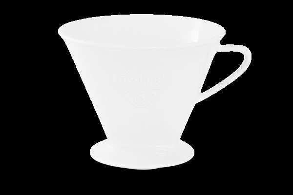 Porzellan Kaffeefilter Gr. 6 Weiß