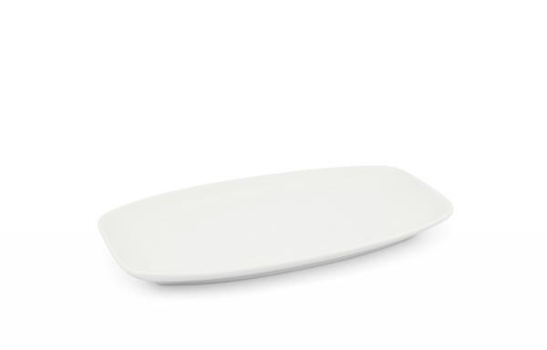 Platte 26 x 16cm Horizont Weiß