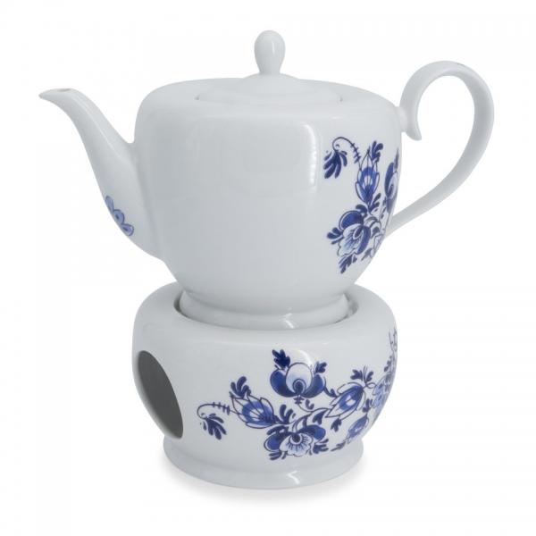 Teekanne / Stövchen Set Atlantis Delfter Blau Friesland Porzellan