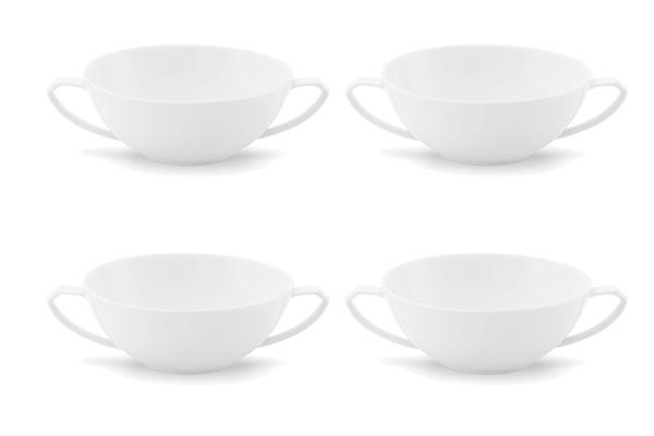 4er-Set Suppen-Obertasse Ecco Weiß