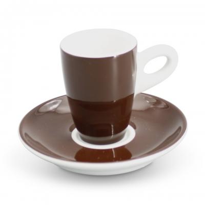 Espresso-Set 2tlg. Alta Dunkelbraun Walküre Porzellan