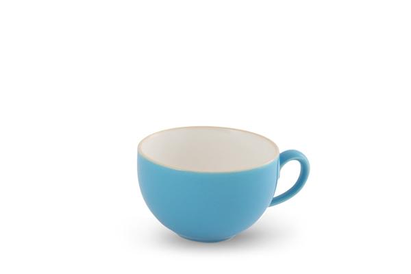 Kaffee- Obertasse 0,24l innen Weiß Happymix Azurblau
